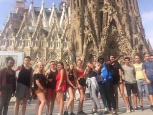 Un groupe d'ados en séjour linguistique Espagne